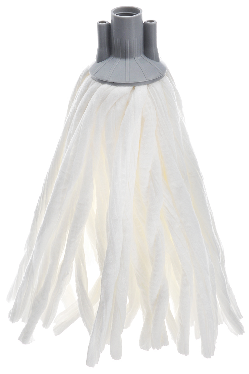 Насадка сменная Apex Girello Eco, для швабры, цвет: белый, серый насадка сменная apex girello eco для швабры цвет белый