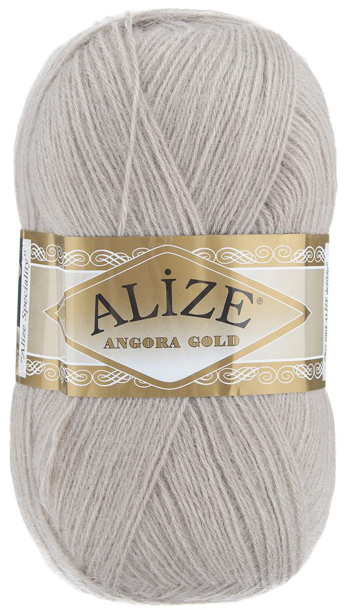 "Пряжа для вязания Alize ""Angora Gold"", цвет: норка (541), 550 м, 100 г, 5 шт"