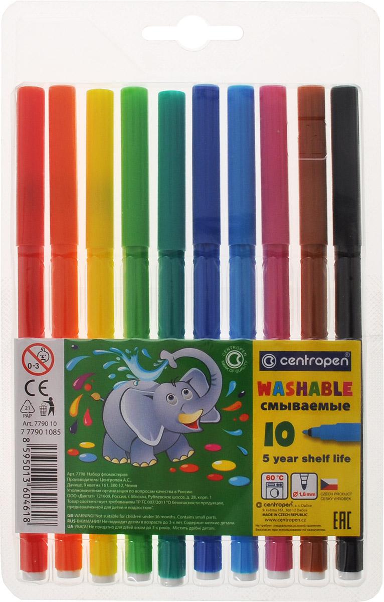 Фото - Centropen Набор смываемых фломастеров 10 цветов centropen набор смываемых фломастеров colour world 18 цветов