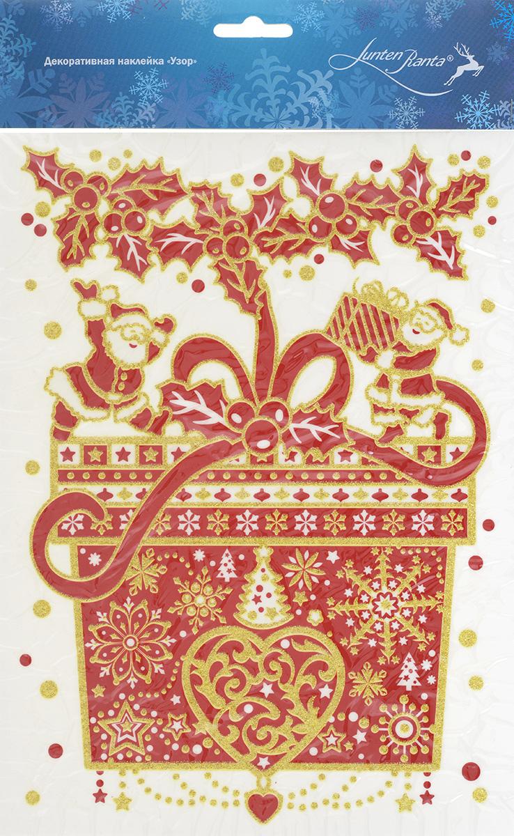 Новогоднее оконное украшение Lunten Ranta Узор, 20 х 29,5 см 65909_1 новогоднее украшение lunten ranta бусы граненые цвет фуксия длина 2 м