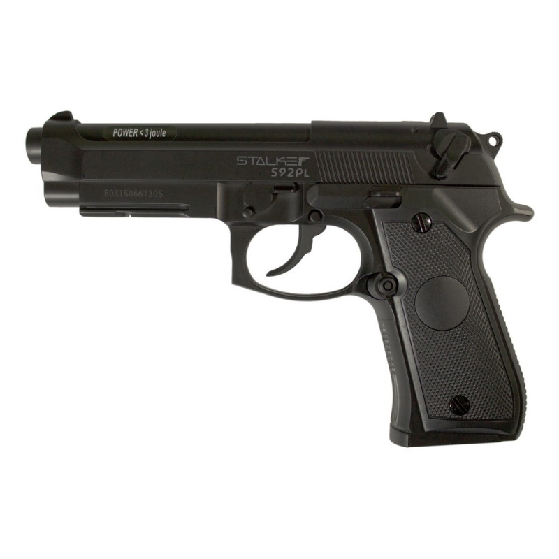 Пистолет пневматический Stalker S92PL (аналог Beretta 92). ST-12051PL магазин stalker для пневматических пистолетов модели s92pl и s92me