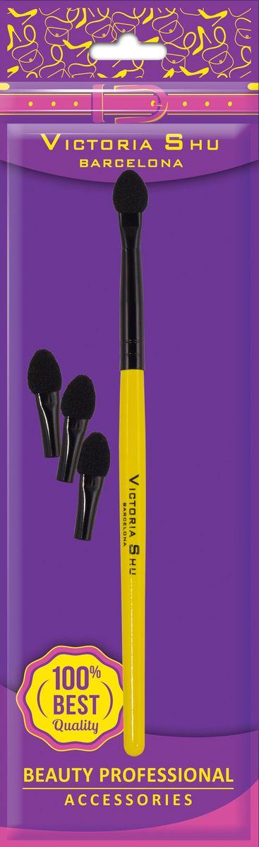 Victoria Shu Аппликатор для нанесения теней (с 3-мя сменными головками) B203, 10 г тени victoria shu тени для век my colour 519