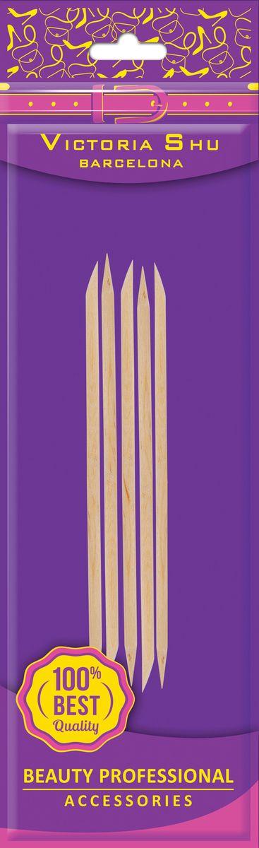 Victoria Shu Набор палочек для маникюра (5шт) D502, 11 г qvs набор для ухода за ногтями и кутикулой мини баф полировка палочки для кутикулы 82 10 1679