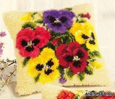 Набор для вышивания подушки Vervaco Анютины глазки, 40 х 40 см набор для вышивания подушки vervaco белая лилия 40 см х 40 см