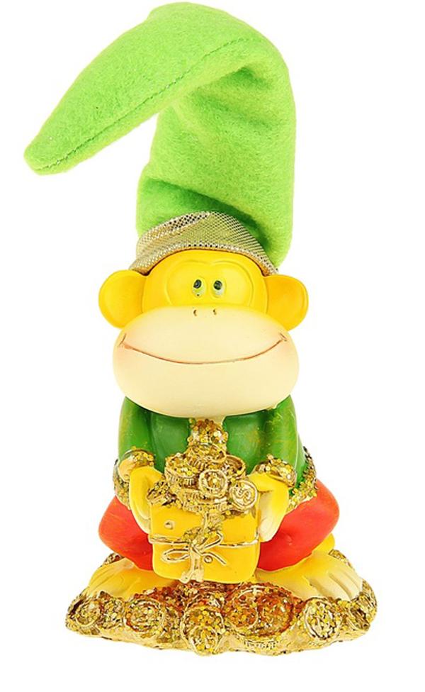 Сувенир Sima-land Обезьянка в колпаке с монетками, высота 12 см подсвечник декоративный sima land обезьянка в шарфике на шаре высота 13 3 см