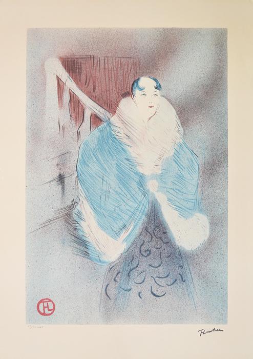 Литография Эльза из Вены (Elsa, Dite la Viennoise). Анри Тулуз-Лотрек. Франция, XX век перрюшо анри тулуз лотрек