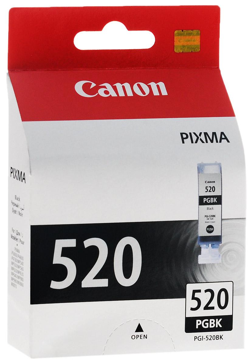 Картридж Canon PGI-520BK, черный, для струйного принтера, оригинал картридж canon pgi 520bk