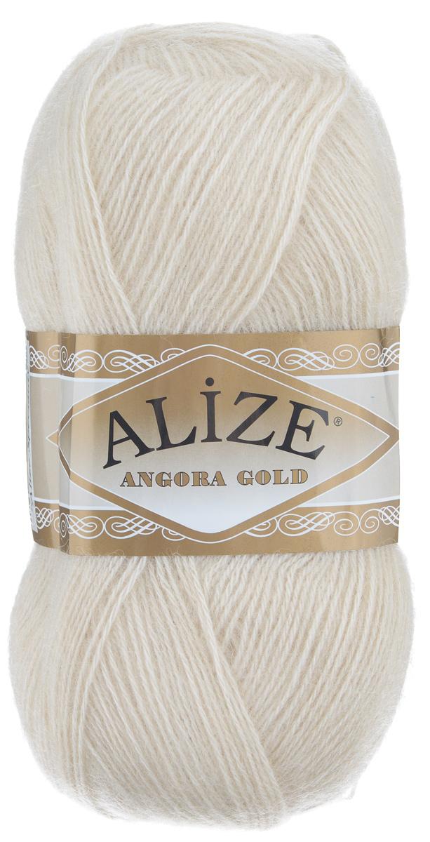 "Пряжа для вязания Alize ""Angora Gold"", цвет: молочно-бежевый (67), 550 м, 100 г, 5 шт"
