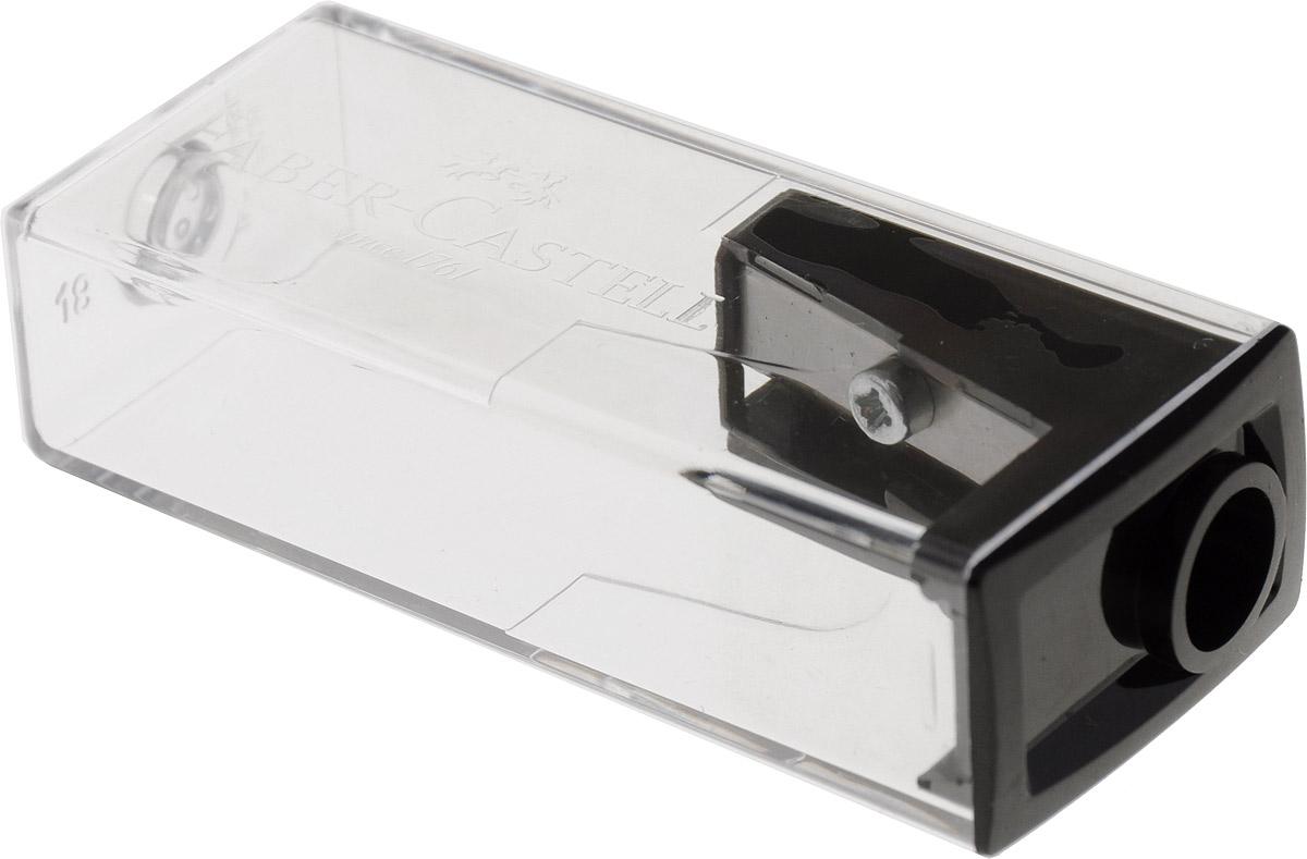 Faber-Castell Точилка с контейнером цвет черный263222_черныйТочилка Faber-Castell предназначена для затачивания карандашей диаметром 8 мм. Прозрачный контейнер позволяет определить уровень заполнения и вовремя произвести очистку. Острые стальные лезвия обеспечивают высококачественную и точную заточку деревянных карандашей. Рекомендуем!