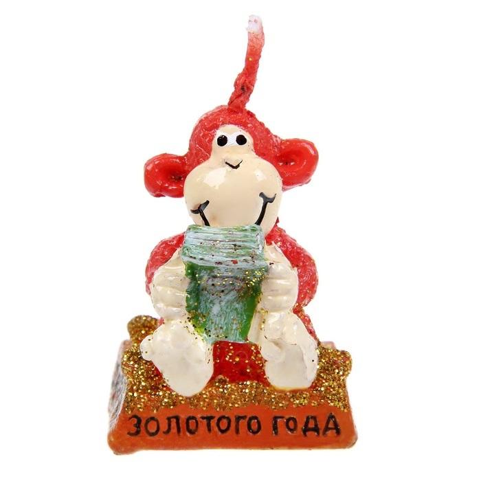 Свеча декоративная Sima-land Золотого года, высота 4 см свеча декоративная sima land столбик цвет красный 296062