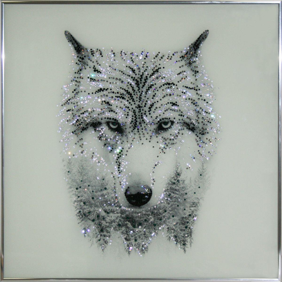 Картинки волка черный стразами