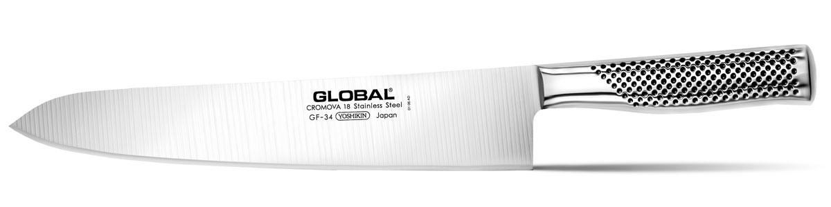 "Нож кухонный ""Global"", длина лезвия 27 см"