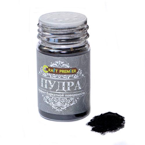 Пудра с эффектом бархата Craft Premier, цвет: черный, 50 мл цена