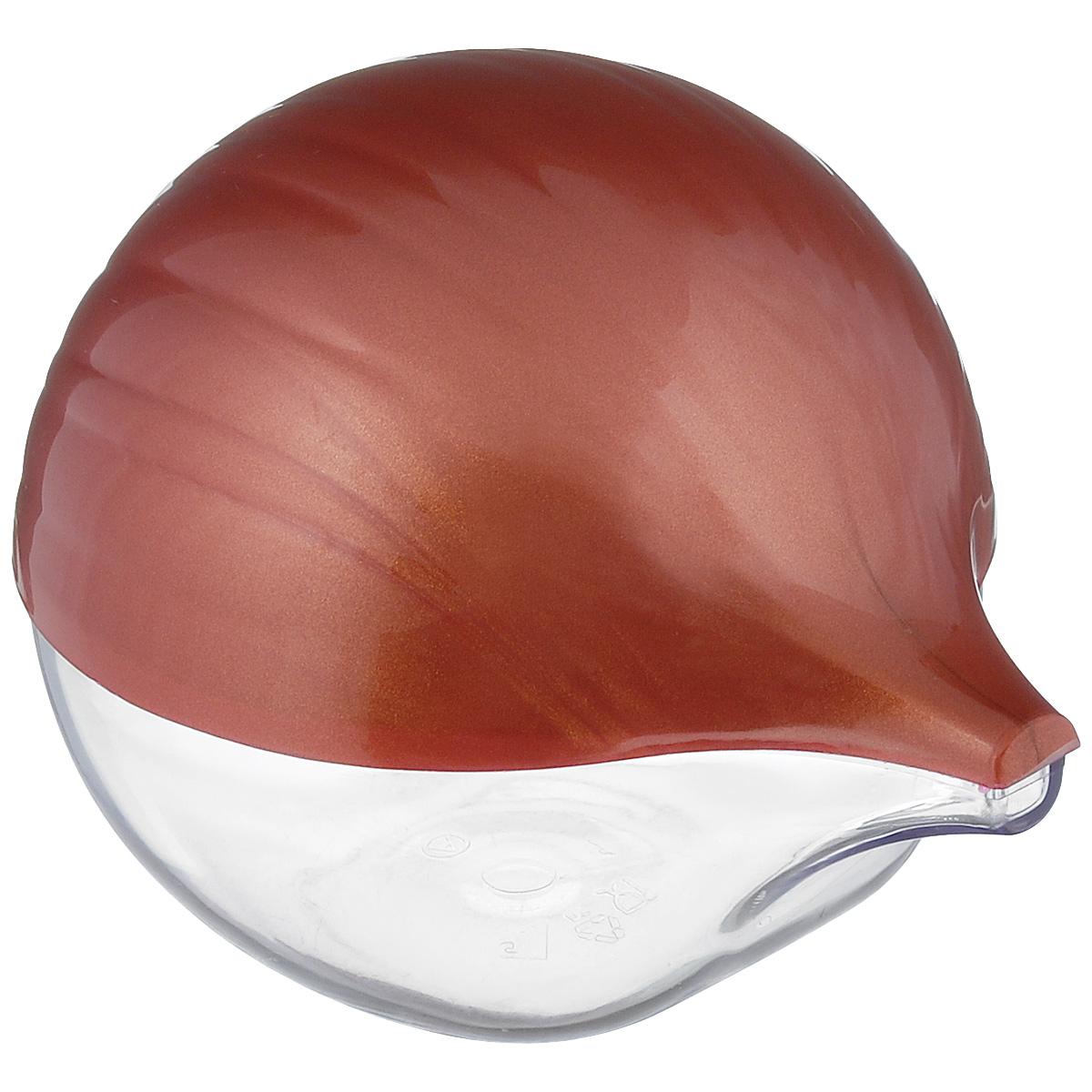 Емкость для лука Альтернатива, цвет: прозрачный, красно-коричневыйМ942Емкость для хранения репчатого лука Альтернатива, изготовленная из пластика с полупрозрачной крышкой, дольше сохранит полезные свойства разрезанного лука, предотвратит распространение запаха и сбережет лук от высыхания. Оригинальный дизайн контейнера, выполненного в виде луковицы, украсит ваш кухонный стол. Рекомендуем!