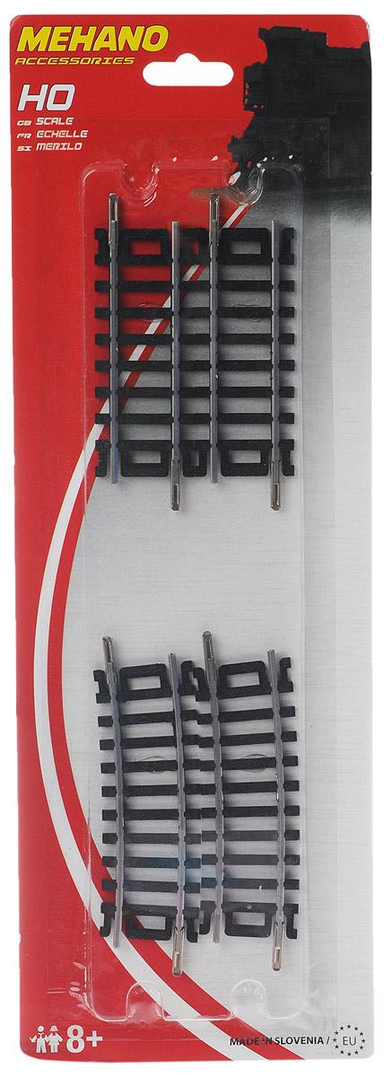 Набор рельс 2 шт. прямых и 2 шт. поворотных рельсов (угол поворота 10 градусов). 457,2 mm игрушка mehano 1 f101 набор рельс