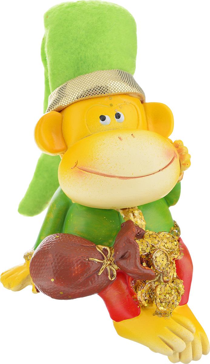 Сувенир Sima-land Обезьянка в колпаке с монетами, высота 8 см подсвечник декоративный sima land обезьянка в шарфике на шаре высота 13 3 см