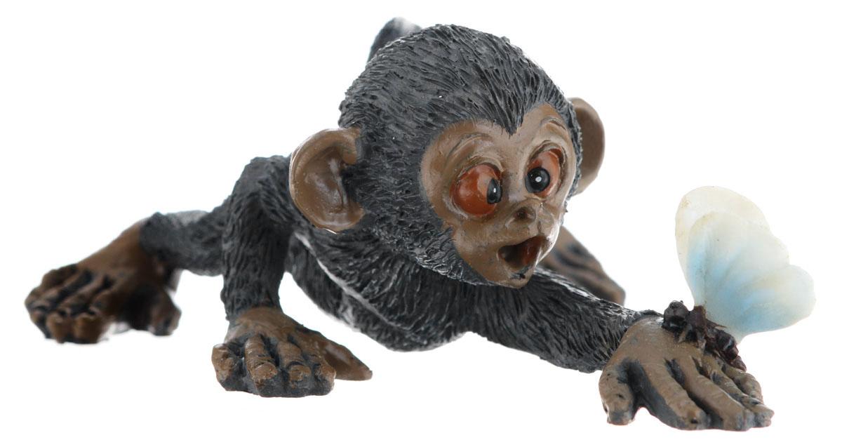 Сувенир-миниатюра Sima-land Обезьянка с бабочкой, 9,5 х 7 х 4 см подсвечник декоративный sima land обезьянка в шарфике на шаре высота 13 3 см