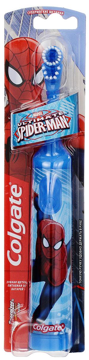 Colgate Зубная щетка Spider-Man, электрическая, с мягкой щетиной, цвет: голубой colgate зубная щетка spider man детская с мягкой щетиной цвет синий красный page 2