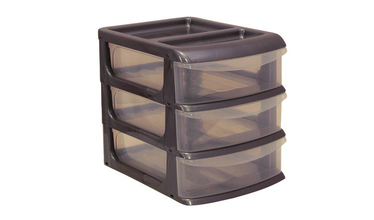 Бокс универсальный Idea, 3 секции, цвет: металлик, 20 см х 14,5 см х 18 см бокс универсальный idea 3 секции цвет салатовый 20 см х 14 5 см х 18 см