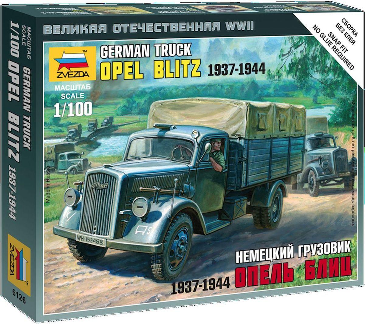 Звезда Сборная модель Немецкий грузовик Опель Блиц 1937-1944 немецкий грузовик опель блиц 6126