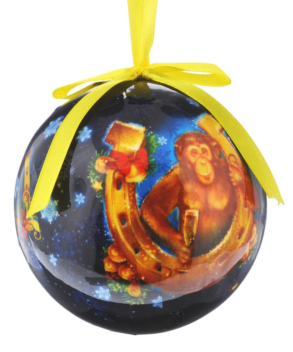 Новогоднее подвесное украшение Sima-land Шар. Удачи и богатства, диаметр 10 см новогоднее подвесное украшение sima land зимний узор диаметр 10 см