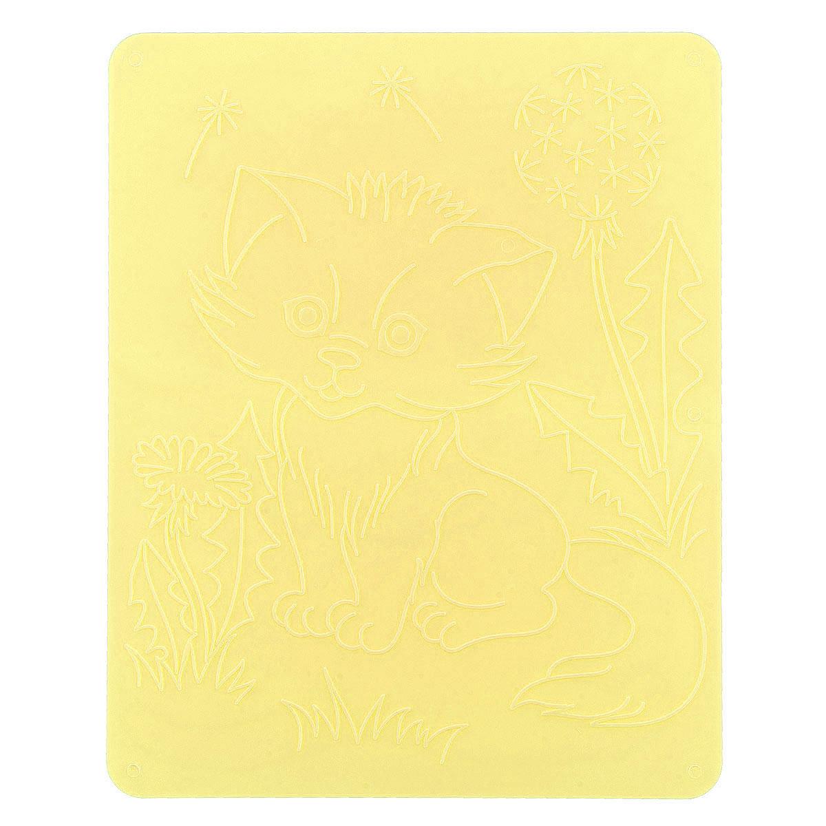 Луч Трафарет рельефный Кошки цвет желтый