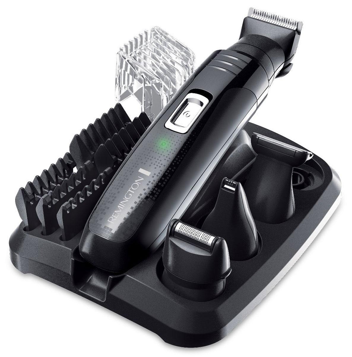 Набор для ухода за волосами Remington PG6130 Groom KitPG6130Набор для ухода за волосами Remington PG6130 - это полностью универсальный набор, гарантирующий постоянный контроль над волосами быстро и просто. Все, что нужно для стрижки волос на лице и теле. Основной триммер с пятью насадками фиксированной длины (1.5, 3, 6, 9 и 12 мм), линейный триммер для носа и ушей, сетчатая мини-бритва и детальный триммер. Все насадки хранятся на компактной подставке. Ваш персональный набор готов к использованию в любой момент. Лучше, чем когда-либо, набор для ухода за волосами Remington PG6130 подойдет для любых задач по уходу за волосами и гарантирует точную и чистую стрижку. Рекомендуем!