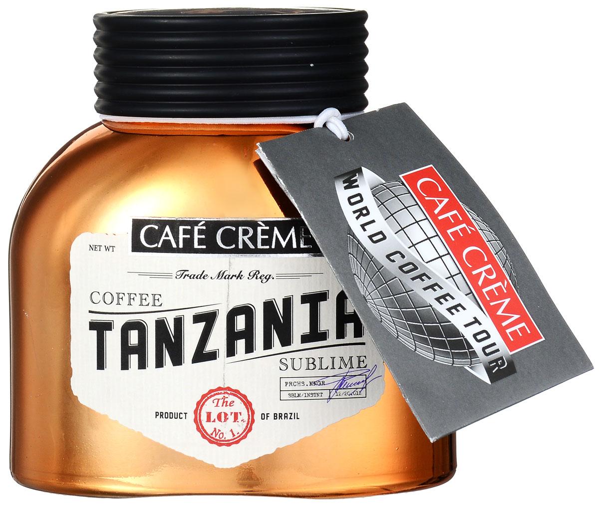 лучшая цена Cafe Creme Tanzania кофе растворимый, 100 г