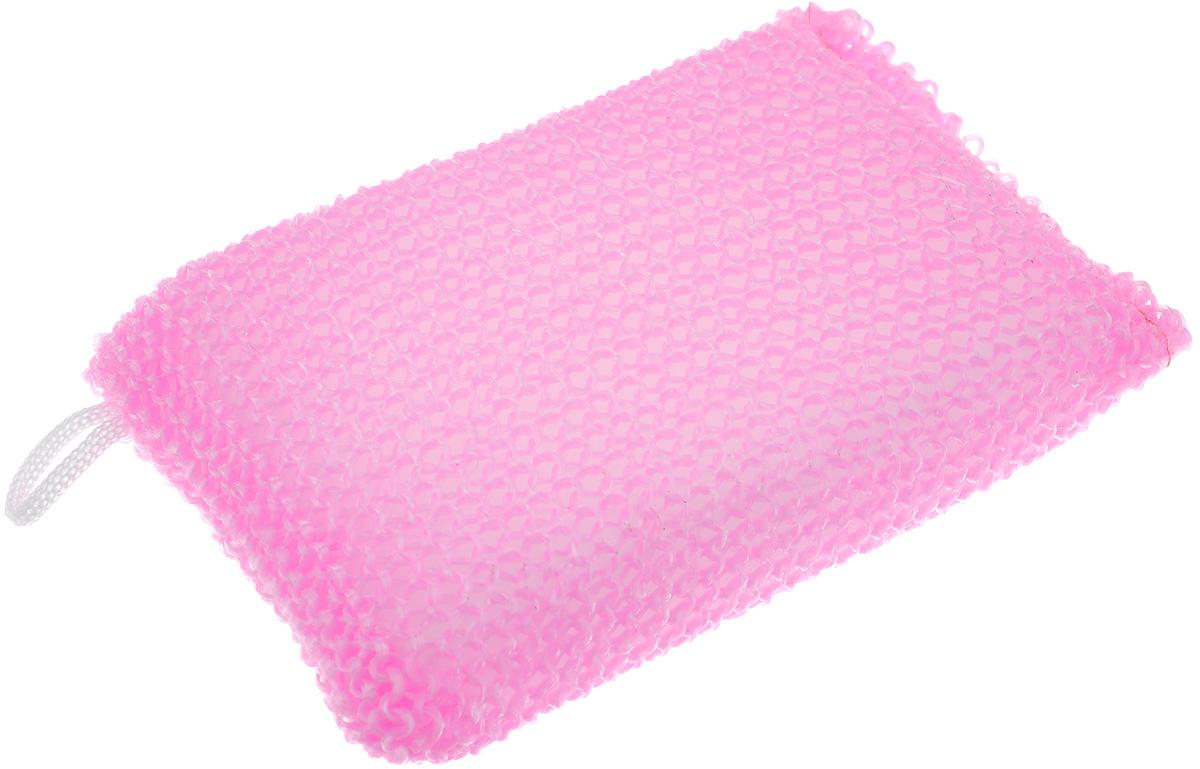 Мочалка Eva Вязаная, М37, цвет в ассортименте, 11 х 17 см мочалка eva букле полосы вязаная с ручками цвет розовый
