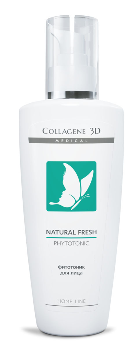 Medical Collagene 3D Фитотоник для лица Natural fresh, 250 мл medical collagene 3d milky fresh 500