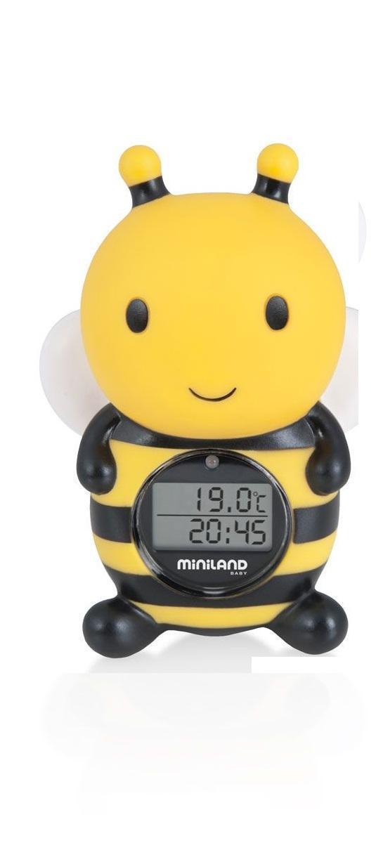 """Цифровой термометр для воды и воздуха """"Thermo Bath. Пчелка"""", цвет: желтый, черный"""
