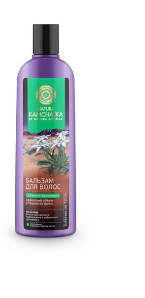 Natura Siberica Kamchatka Бальзам Снежный Бриллиант Эффектный объем и пышность волос, 280 мл натура сиберика камчатка шампунь для волос снежный бриллиант объем и пышность 280мл