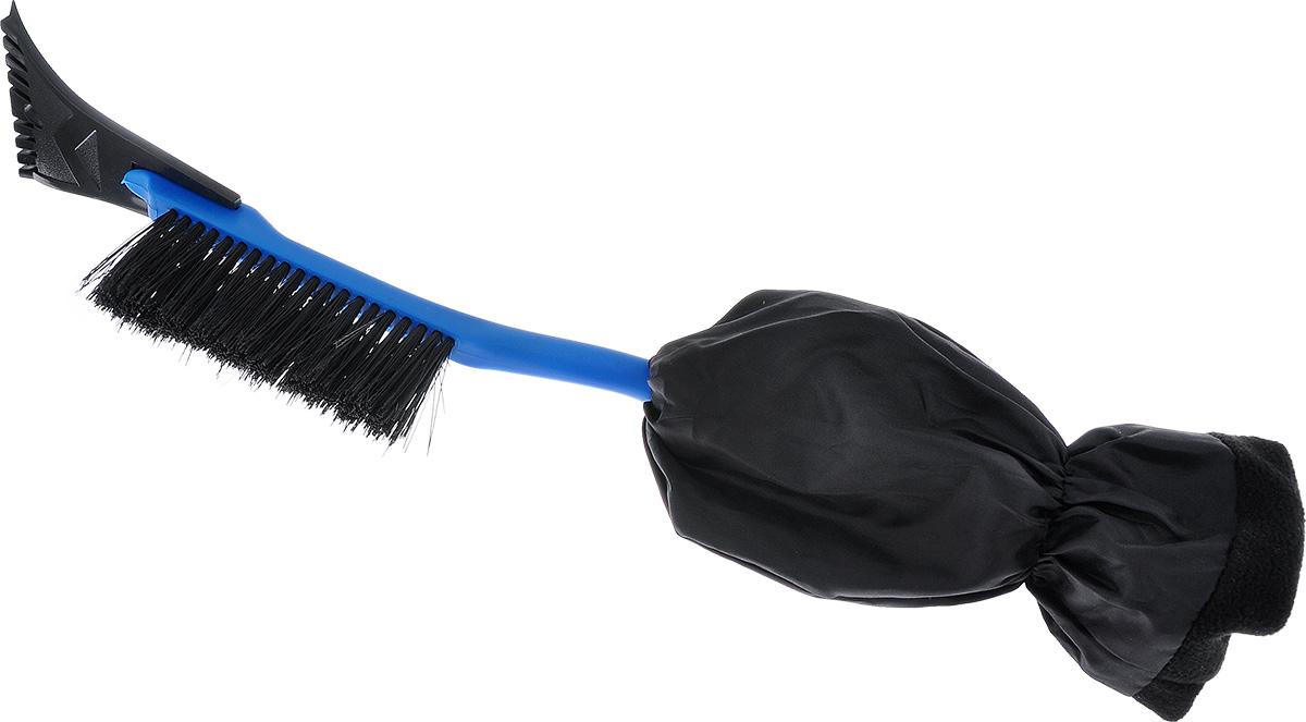 Щетка для снега Sapfire, с варежкой, цвет: синий, черный, длина 52 см пакеты для колес sapfire 100x100 см 4 шт