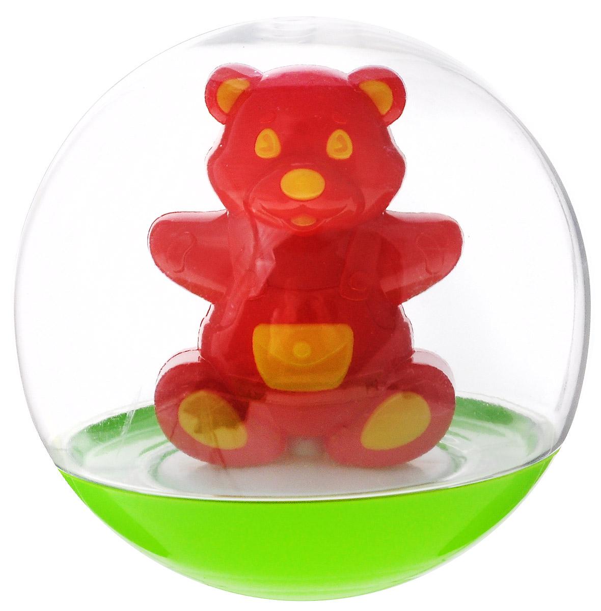Stellar Погремушка-неваляшка Мишка цвет красный желтый цена и фото