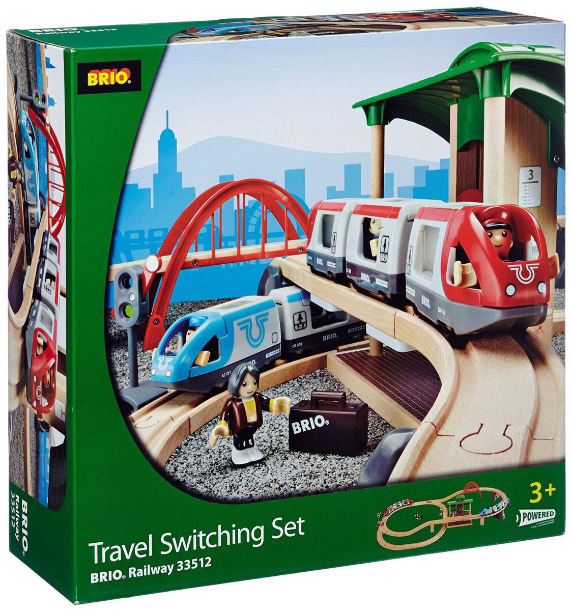 Brio Железная дорога двухуровневая с вокзалом все цены