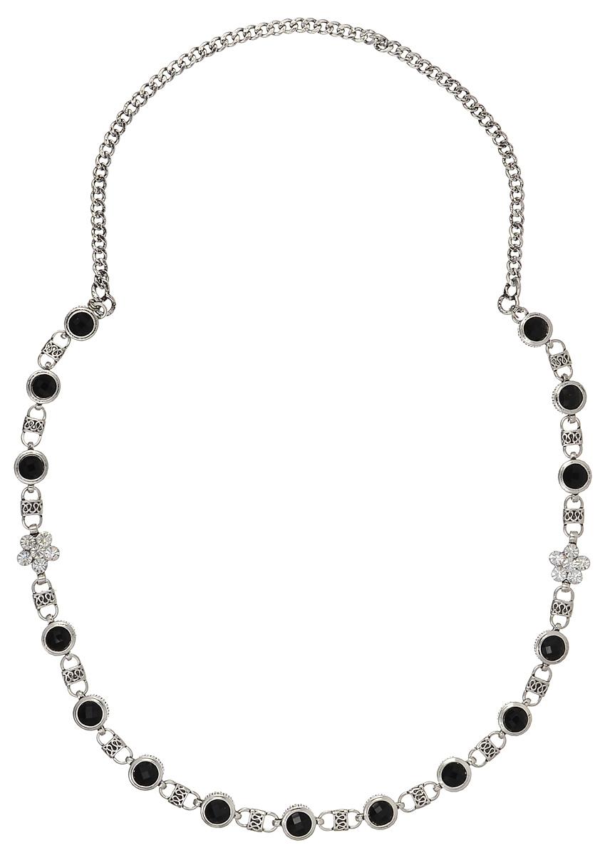Колье Fashion House, цвет: серебряный, черный. FH27629