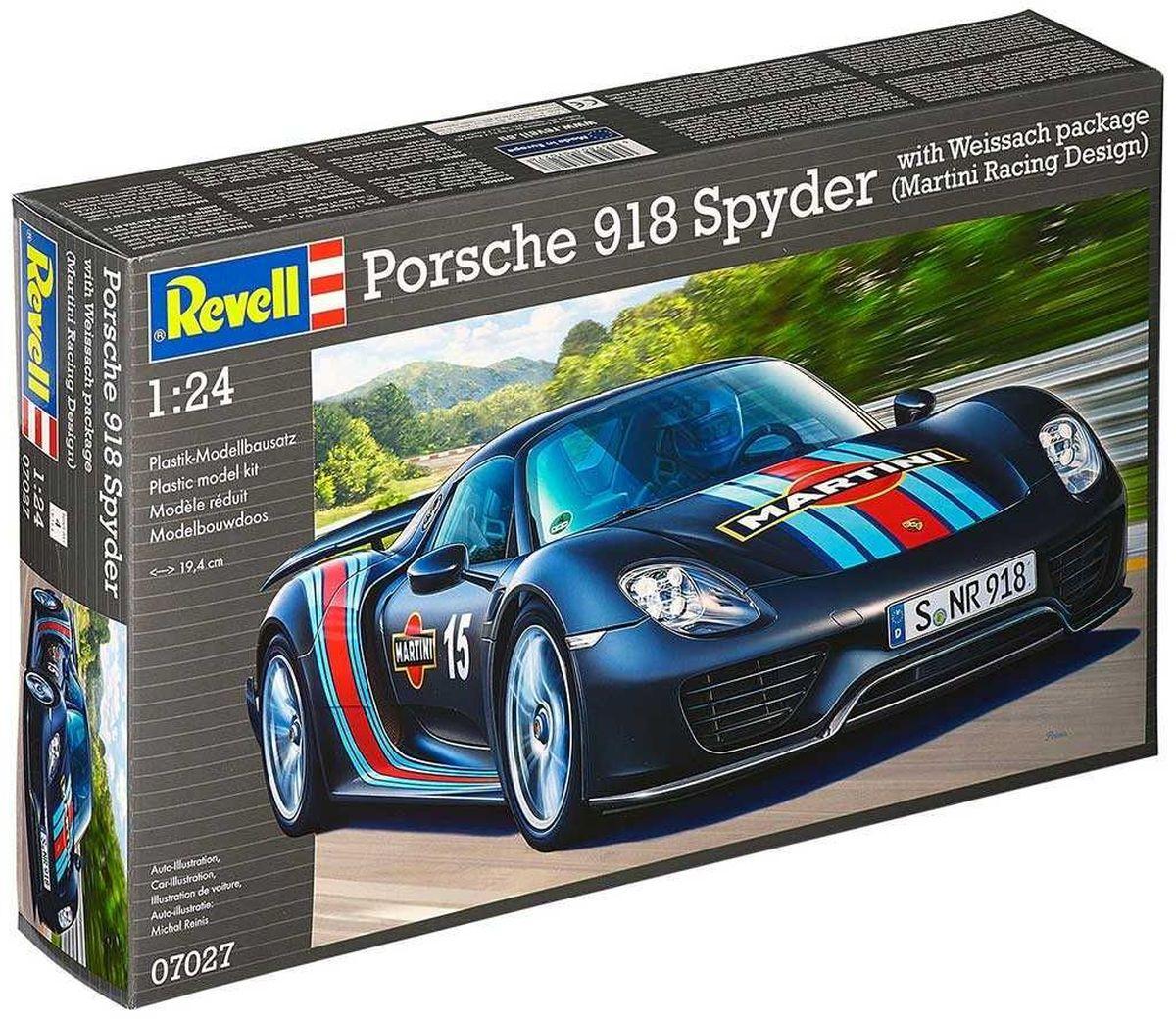 Revell Сборная модель Автомобиль Porsche 918 Spyder Martini Racing Design стоимость