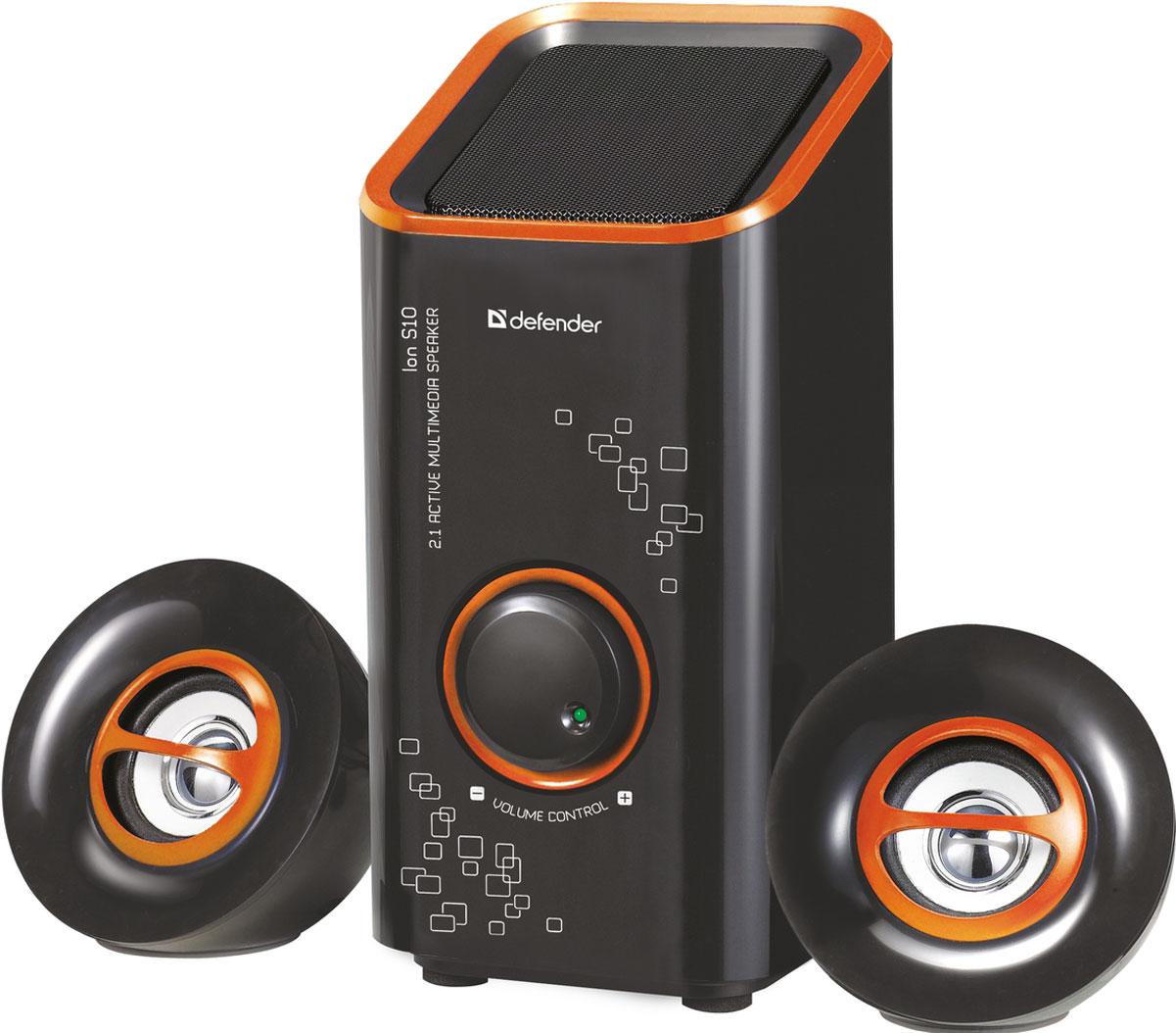 Компьютерная акустика Defender ION S10, Black 2.1 цена и фото