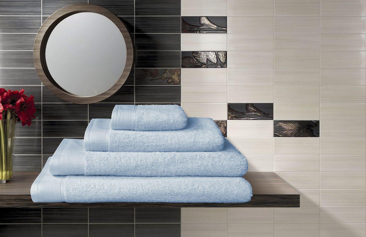 """Набор махровых полотенец """"Guten Morgen"""", цвет: голубой, 4 предмета"""