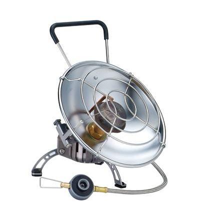 Обогреватель газовый Kovea Fire Ball KH-07102457Газовый обогреватель Kovea KH-0710 Fire Ball - уникальный портативный газовый обогреватель со шлангом с возможностью приготовления пищи. Туристический газовый обогреватель зажигается с помощью пьезоподжига. В приборе предусмотрено два положения отражателя: наклонное - для обогрева и горизонтальное - для приготовления пищи. Оба положения жестко фиксируются крепежным болтом, при этом исключается возможность изменения положения отражателя и опрокидывания кастрюли при готовке. Сетка отражателя достаточно частая, чтобы готовить еду или кипятить воду даже в кружке или турке. Для более стабильной работы газового обогревателя на холоде в конструкции газового обогревателя предусмотрена Anti-Flare System - система предварительного подогрева газа. Это очень удобная модель газового обогревателя для зимней рыбалки, когда одновременно с обогревом рыболовного укрытия в перерывах между клевом вы сможете вскипятить еще чашку чая или тут же поджарить и съесть только что пойманную рыбу под рюмку согревающего напитка, не думая о постоянно мерзнущих руках. Туристический газовый обогреватель KH-0710 работает от резьбовых газовых баллонов KGF-0230 и KGF-0450. Также возможно использование цангового баллона KGF-0220 при помощи переходника KA-9504 (поставляется в комплекте). Баллоны приобретаются отдельно. Комплектация: газовый обогреватель, пластиковый кофр, переходник, инструкция по эксплуатации. Мощность: 0,9 кВт. Вес:  г. Расход топлива: 66 г/ч. Топливо: газ. Размер (в походном положении): 190 ...