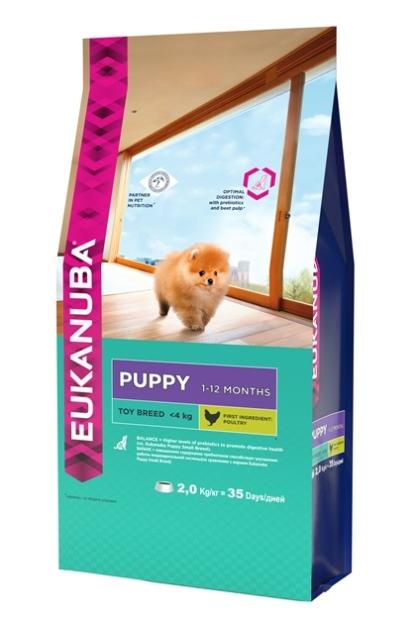 """Корм Eukanuba """"Dog"""", для щенков миниатюрных пород, 2 кг"""