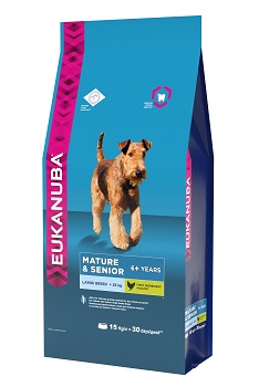 """Корм Eukanuba """"Dog"""", для пожилых собак крупных пород, 15 кг"""