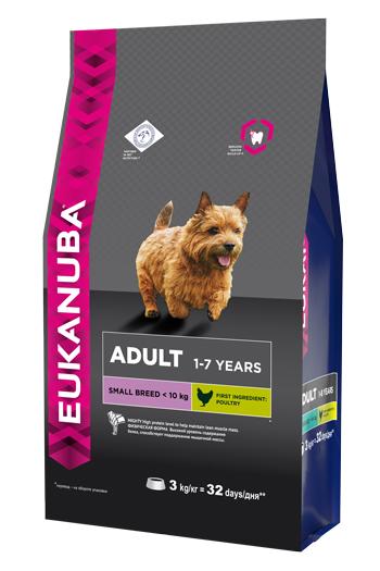 """Корм Eukanuba """"Dog"""", для взрослых собак мелких пород, 3 кг"""