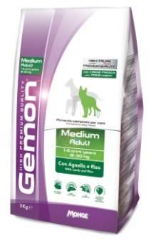 Корм Gemon Dog Medium, для взрослых собак средних пород, ягненок с рисом, 15 кг лифтинг сыворотка для лица мервейанс эксперт serum lift tensor 30мл