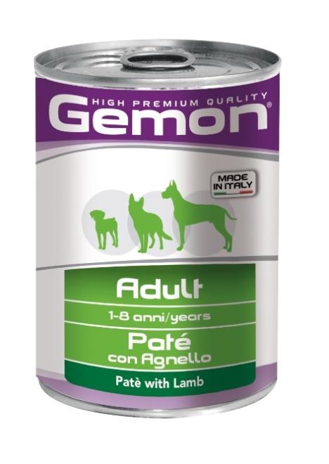 """Консервы Gemon """"Dog"""", для собак, паштет с ягненком, 400 г"""