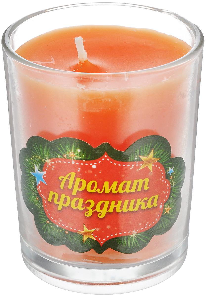 Свеча ароматизированная Sima-land Аромат праздника, высота 6 см свеча декоративная sima land столбик цвет красный 296062