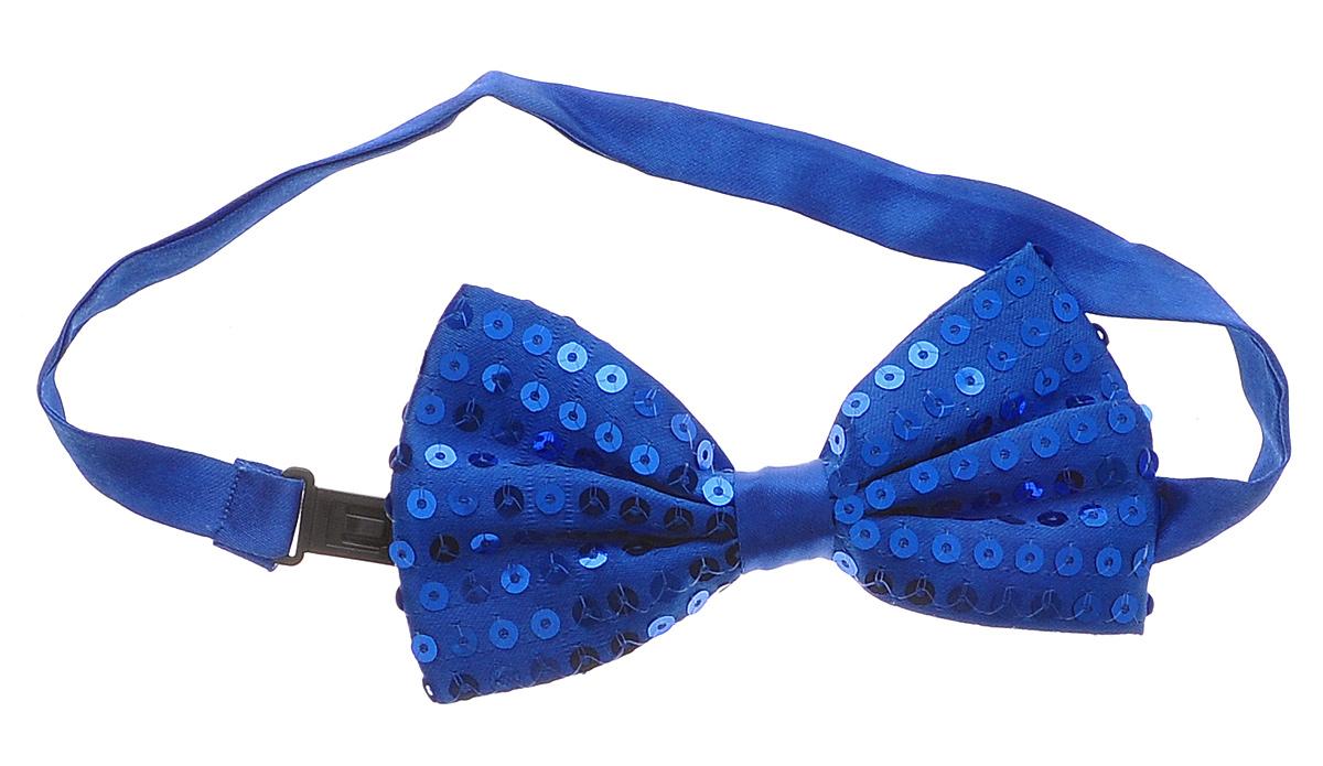 Галстук-бабочка маскарадный Феникс-Презент, цвет: синий soft line боди и галстук бабочка белые с пояском декорирован бантиком