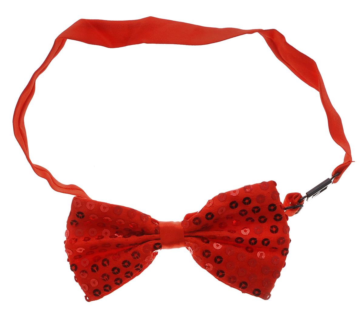 Галстук-бабочка маскарадный Феникс-Презент, цвет: красный soft line боди и галстук бабочка белые с пояском декорирован бантиком