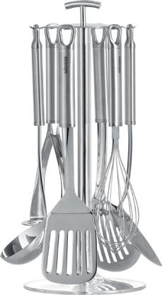 Набор кухонных принадлежностей Nadoba Karolina, 7 предметов721022Набор кухонных инструментов Nadoba Karolina выполнен из нержавеющей стали. Высокая прочность и долговечность в использовании. Зеркальная полировка рабочих частей. Рекомендуем!