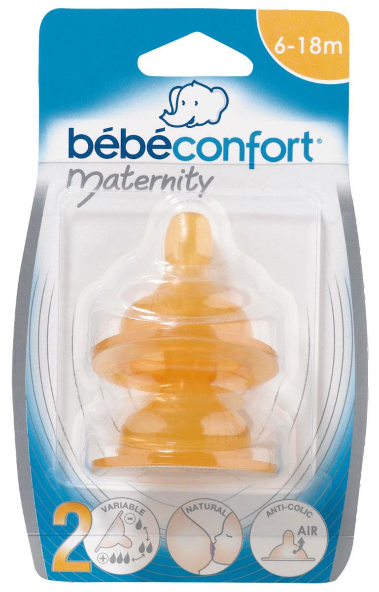 цена на Bebe Confort Соска Maternity S2 латекс 6-24 месяцев 2 шт